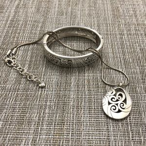 Brighton matching necklace and bangle.